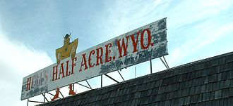 Hell's Half Acre (Wyoming) - Image: Hell's Half Acre (Wyoming) (sign)