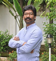 A photograph of Hemant Soren