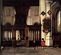 Hendrick Cornelisz. van Vliet - Interior of the Nieuwe Kerk, Delft, with the Memorial Tablet of Adriaen Teding van Berkhout - WGA25267.jpg