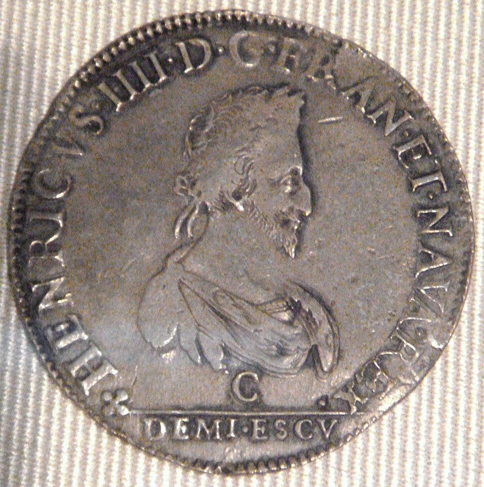 Henri IV demi ecu Saint Lo 1589