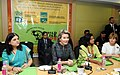 Her Majesty The Queen Mathilde of Belgium along with the Union Minister for Women and Child Development, Smt. Maneka Sanjay Gandhi at the Childline (1098) Contact Centre of Ministry of Women and Child Development (1).jpg