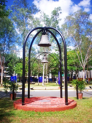 History of the Ateneo de Manila - Heritage Bells, the larger cast in 1832, the smaller in 1882, for the Padre Faura campus