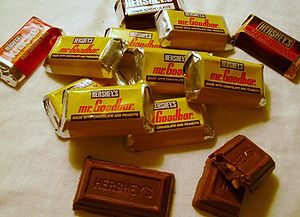 English: Hershey's Miniatures Mr Goodbar choco...