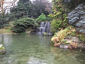Highfields Park, Nottingham - Image: Highfields Park Cascade 9121