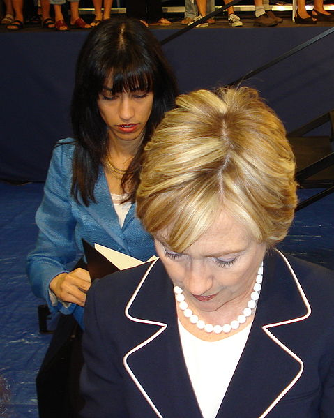 Huma Abedin, wife of Anthony Weiner, was a longtime assistant to Hillary Clinton