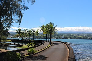 Liliuokalani Park and Gardens - Hilo Bay and Hilo town from Liliu'okalan Gardens