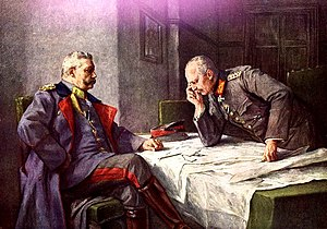 Erich Ludendorff - Hindenburg (seated) and Ludendorff. Painting by Hugo Vogel