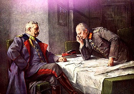 Hindenburg and Ludendorff at Tannenberg (painting by Hugo Vogel) Hindenburg-ludendorff.jpg