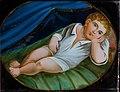 Hinterglasbild Liegendes Jesulein Italien 19Jh.jpg