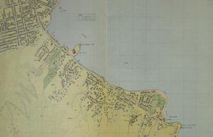 Sandy Bay, Tasmania - Map of Sandy Bay in 1954