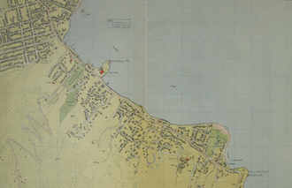 Sandy Bay, Tasmania - Map of Sandy Bay in 1954