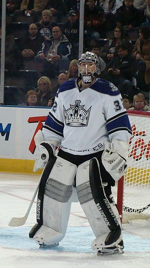 Jonathan Quick - Quick with the Los Angeles Kings in 2010.