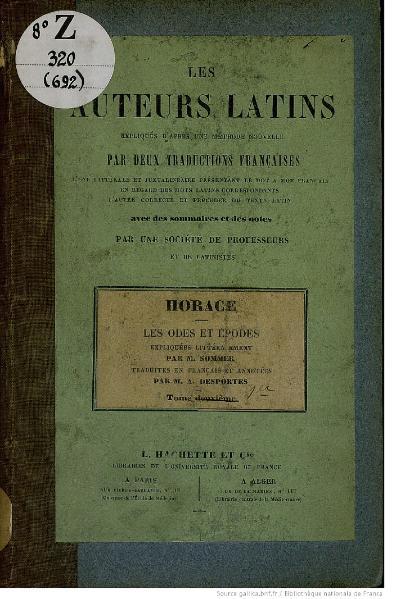 File:Horace - Odes, juxtalinéaire, 1847.djvu