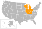 Horizon League map 2015