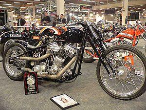 Bobber (motorcycle) - A Harley-Davidson bobber