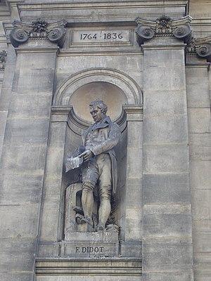 Firmin Didot - Firmin Didot statue, facade of the Hôtel de Ville, Paris