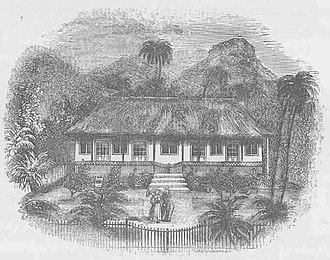 John Williams (missionary) - House of The Rev. John Williams, Raiatea (LMS, 1869, p.37)