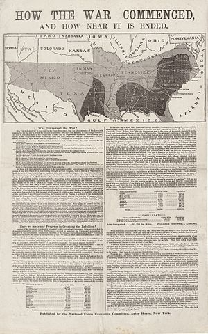 "United States presidential election, 1864 - ""How the War Commenced and How Near It Is Ended"" published by the National Union Executive Committee."
