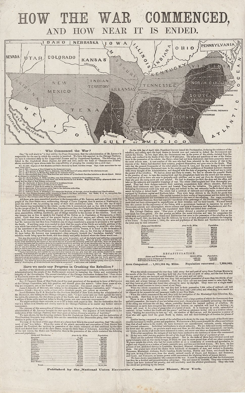 How the War Commenced and How Near It Is Ended 1864 Cornell CUL PJM