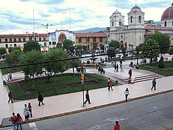 The Plaza Constitución in Huancayo