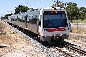 Transperth Trains - A-series at Bassendean in February 2010
