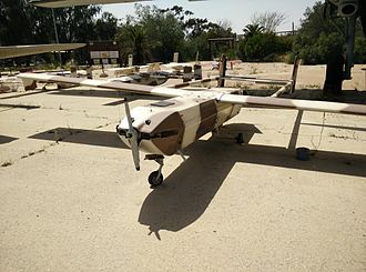 IAI RQ-5 Hunter - The Hunter RQ-5 at the UAVs area in Hatzerim Israeli Air Force Museum.