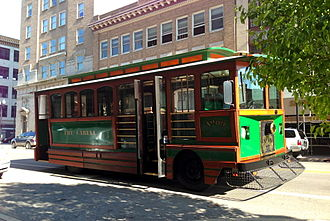 Huntington, West Virginia - Trolley bus No. 9 on Fourth Avenue