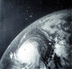 Hurricane Betsy in the Gulf of Mexico