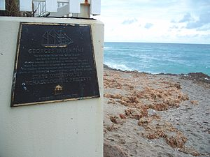 National Register of Historic Places listings in Martin County, Florida - Image: Hutchinson Island FL Georges Valentine wreck plaque 02