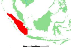 Lage von Sumatra