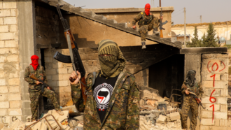 Foreign fighters in the Syrian and Iraqi Civil Wars - Image: IFB Antifa Manchester