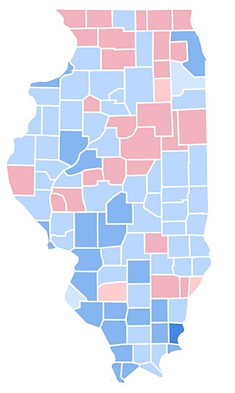 1992 United States presidential election in Illinois - Image: IL1992