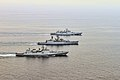 INS Trishul, INS Betwa and INS Teg (top to bottom) during Ex Defence of Gujrat 2013.jpg