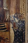 interieur, beschilderd paneel, detail - tholen - 20265797 - rce