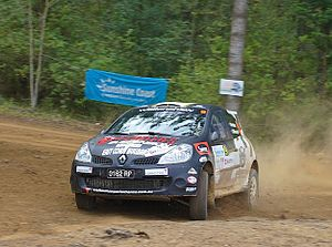 Australian Rally Championship - Scott Pedder and Dale Moscatt. Renault Clio R3. International Rally of Queensland 2014
