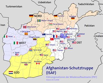 Führungsnationen der Wiederaufbauteams (PRT) und Regional Commands