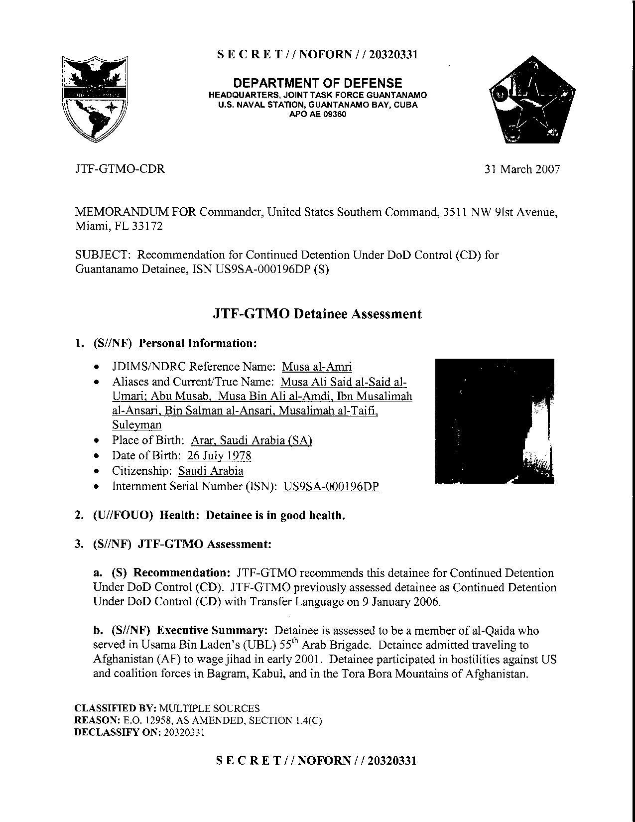 ISN 196's Guantanamo detainee assessment.pdf