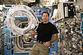 ISS-50 Thomas Pesquet with power and data cables in the Kibo lab.jpg