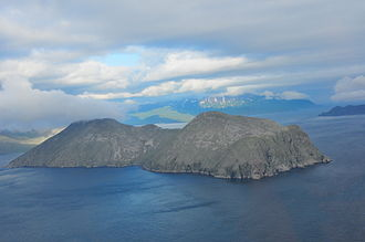 Igitkin Island - Igitkin Island. Great Sitkin Island can be seen in the background.