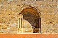 Iglesia parroquial de San Nicolás de Bari en Gurrea de Gállego entrada tapiada.jpg