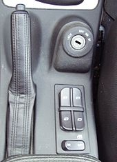 window controls on center console between front seats (2005 saab 9-5)