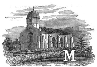 Marfleet - Image: Illustated initial of Marfleet church c.1840 (Poulson)