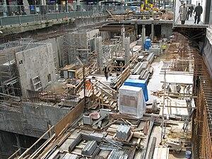 Granville Mall, Vancouver - Canada Line subway construction at Granville Mall (2008)