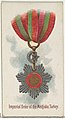 Imperial Order of the Medjidie, Turkey, from the World's Decorations series (N30) for Allen & Ginter Cigarettes MET DP838300.jpg