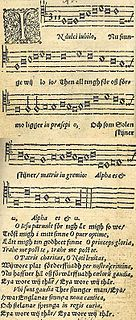 <i>In dulci jubilo</i> sacred Song with lyrics by Henry Suso