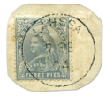 Indian 3 pies stamp with the portrait of Queen Victoria and postmarked Lahssa.png