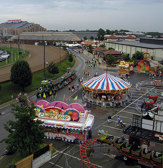 Indiana State Fair - A view of some of the fair grounds