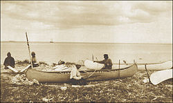 Innu near Sheshatshiu in the 1920s.
