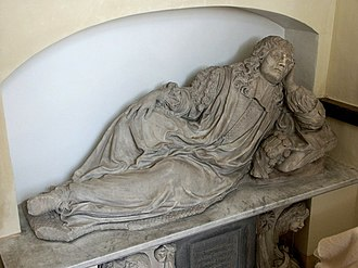 Sir Thomas Vyner, 1st Baronet - Monument to Sir Thomas Vyner, attributed to Jasper Latham in 1672, at All Saints' Church in Gautby.