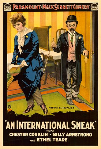 Fred Fishback - Poster for An International Sneak (1917)